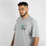 Camiseta Thug Nine Racoon Cinza
