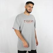 Camiseta Thug Nine War Zone Cinza