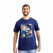 Camiseta Vans Off The Wall Marinho Floral