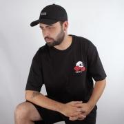 Camiseta Vans Rose Bed Preta