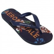 Chinelo Aeropostale Azul Brand Floral