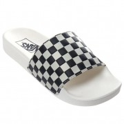 Chinelo Slide Vans Checkerboard - Branco
