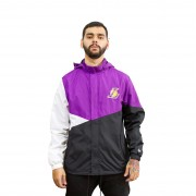 Jaqueta Corta Vento New Era Lakers Preto/Roxo