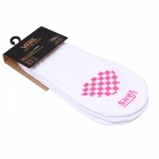 Kit Meias Vans Single Checker Rosa