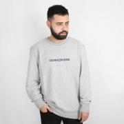 Moletom Calvin Klein Jeans Careca Logo Classic Cinza