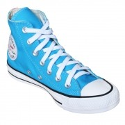 Tênis Converse All Star Chuck Taylor Tag Azul Água Cano Longo