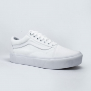 Tênis Vans Old Skool Plataforma True White