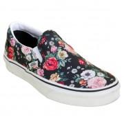 Tênis Vans Slip-On Preto Floral