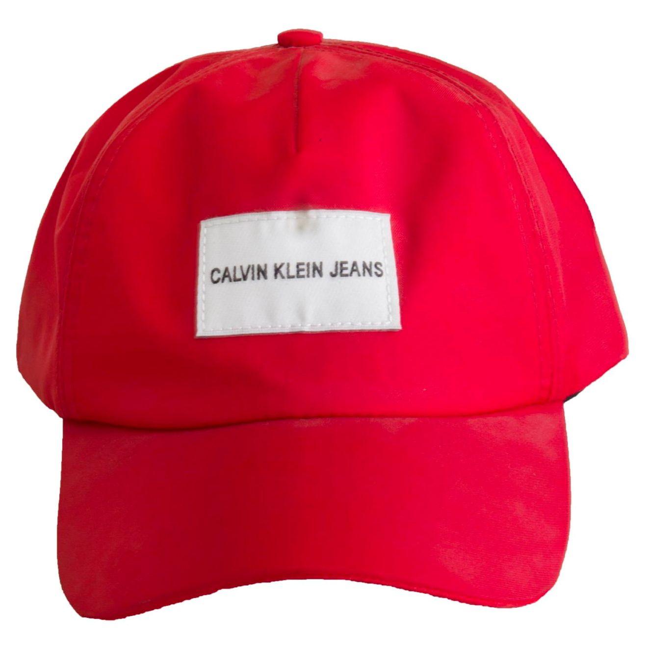 Boné CKJ Etiqueta Vermelho