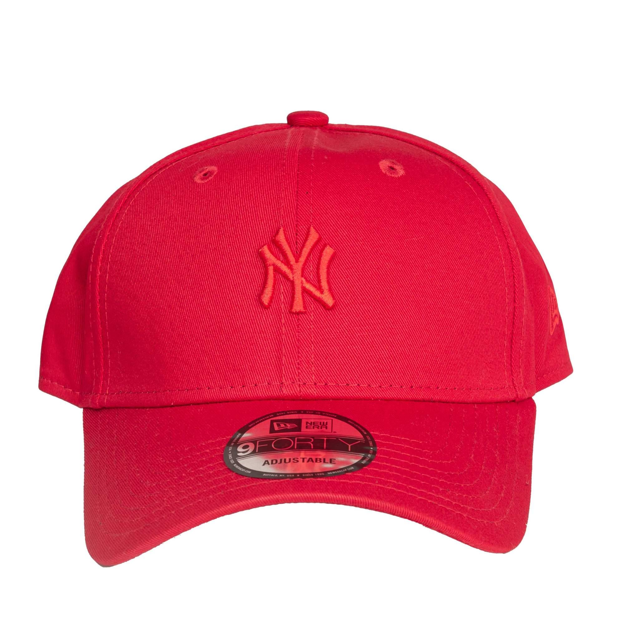 Boné New Era Yankees Mid Logo Vermelho