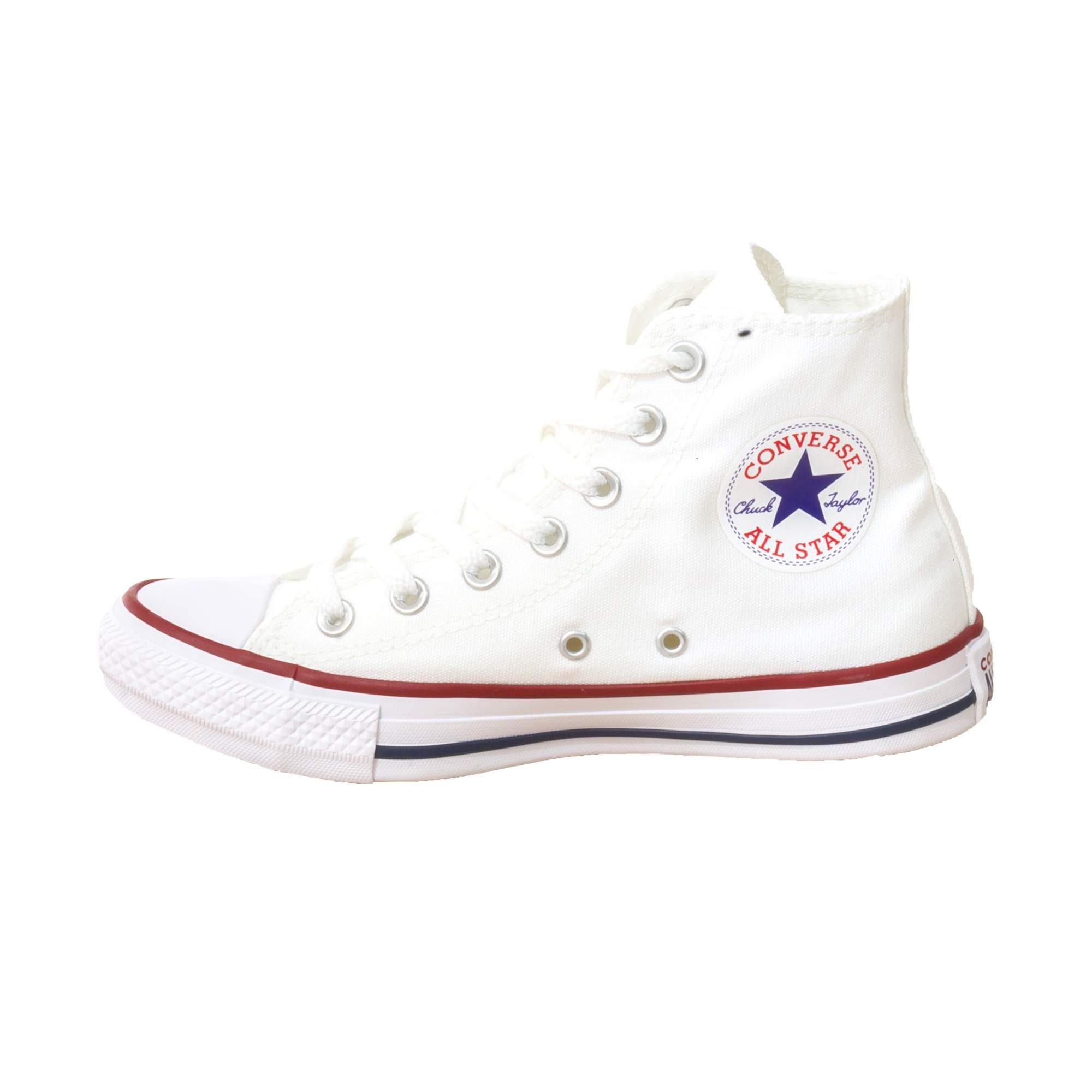 Tênis Converse All Star Chuck Taylor Branco Cano Longo