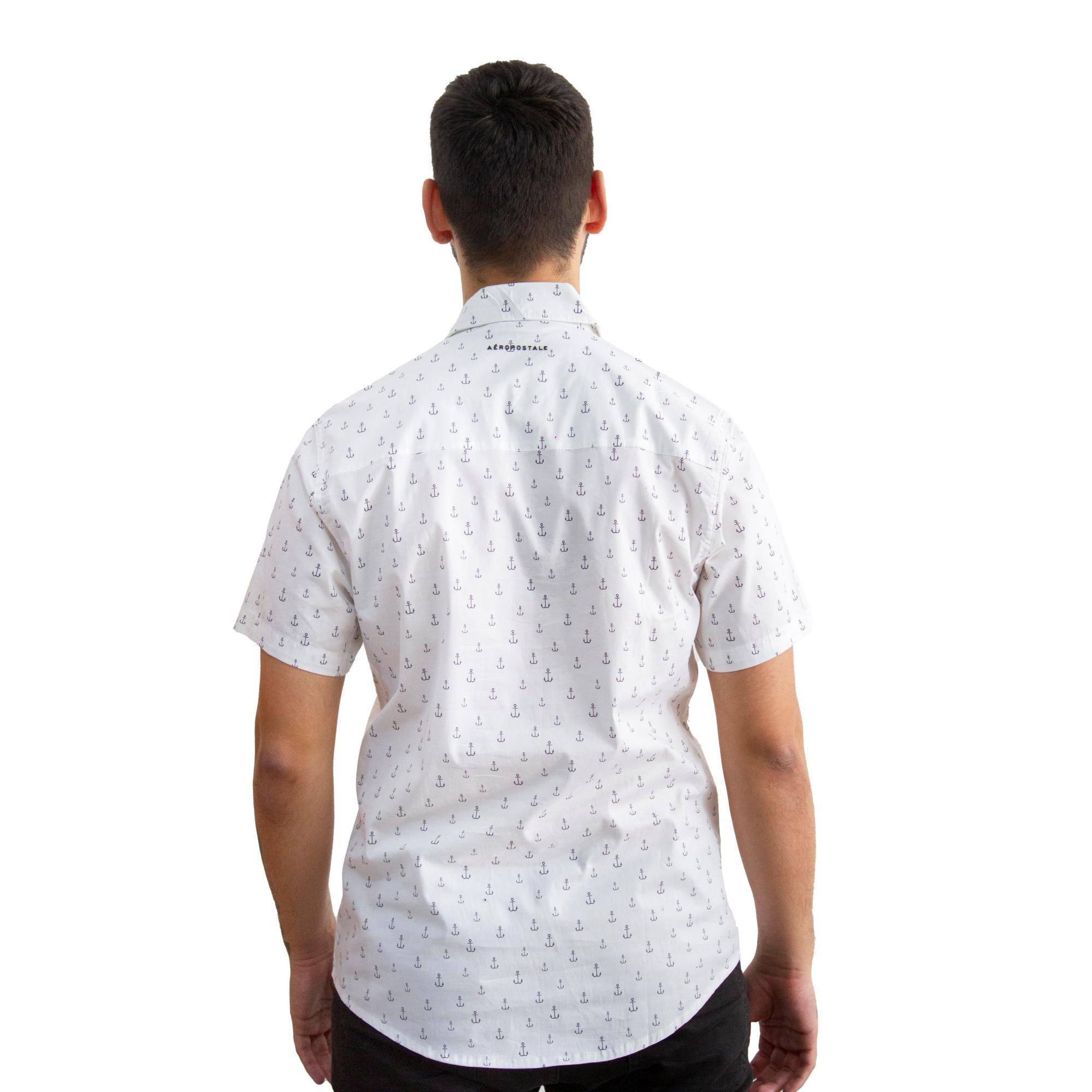 Camisa Aéropostale Reta Âncora Branca