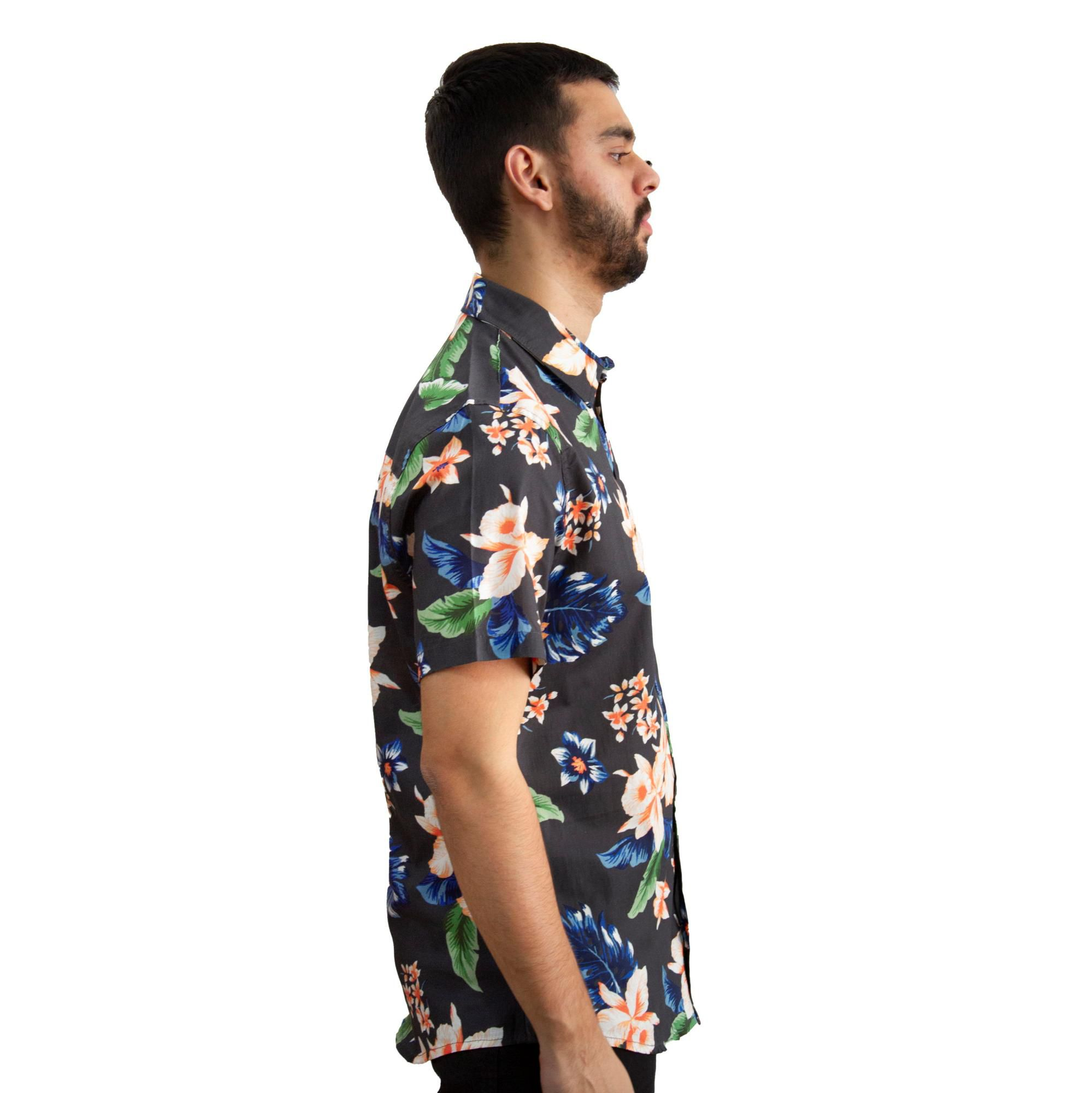 Camisa Aéropostale Reta Floral Preta