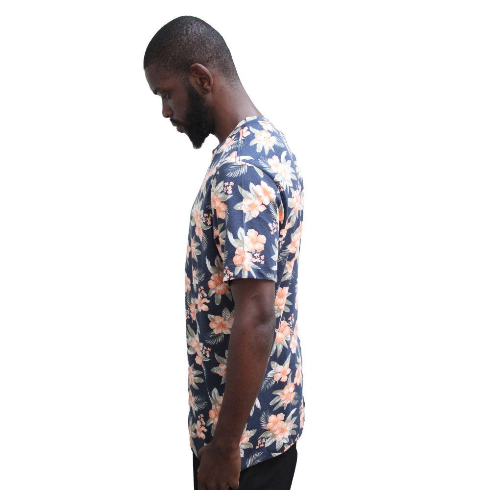 Camiseta Aéropostale Floral Azul