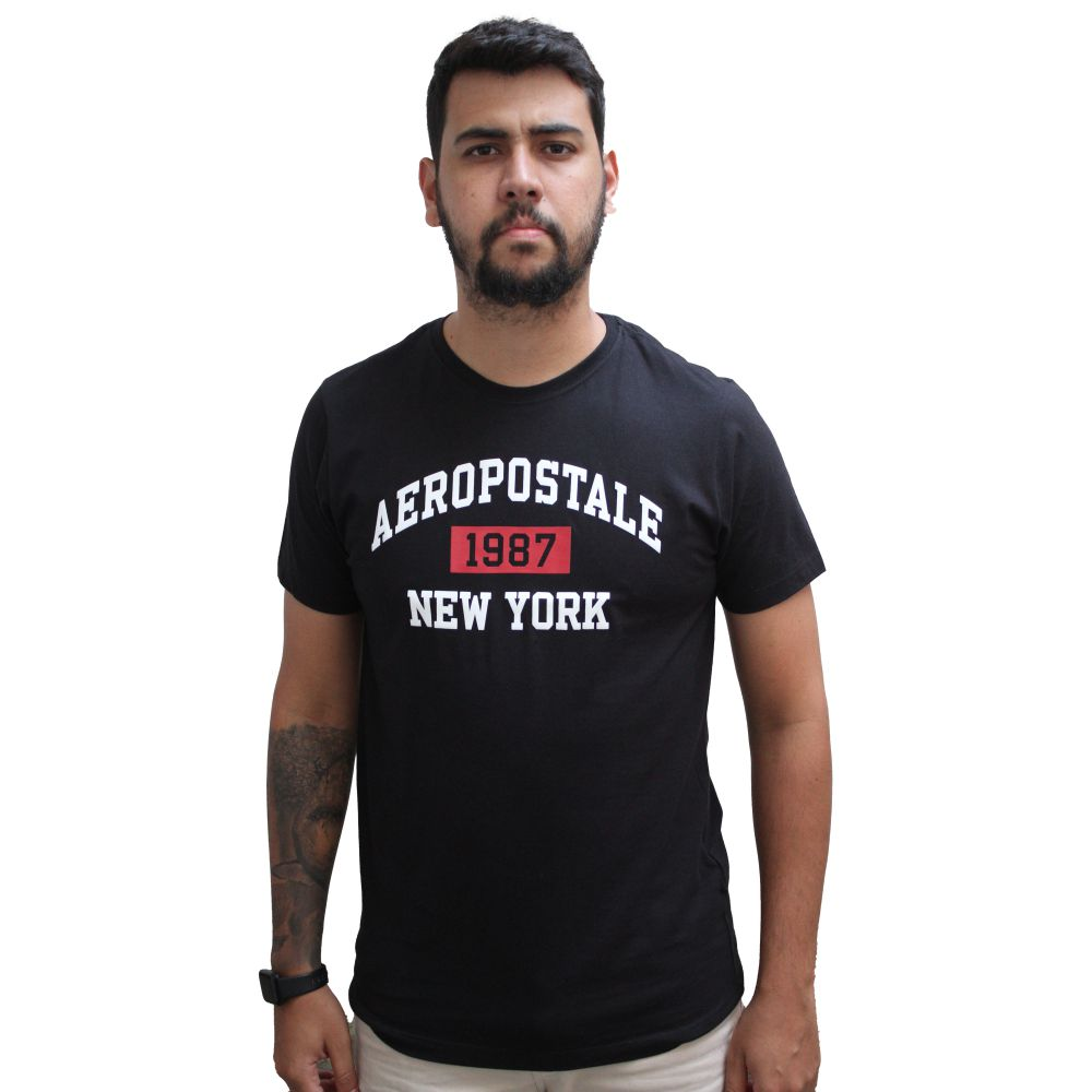 Camiseta Aéropostale  New York 1987 Black