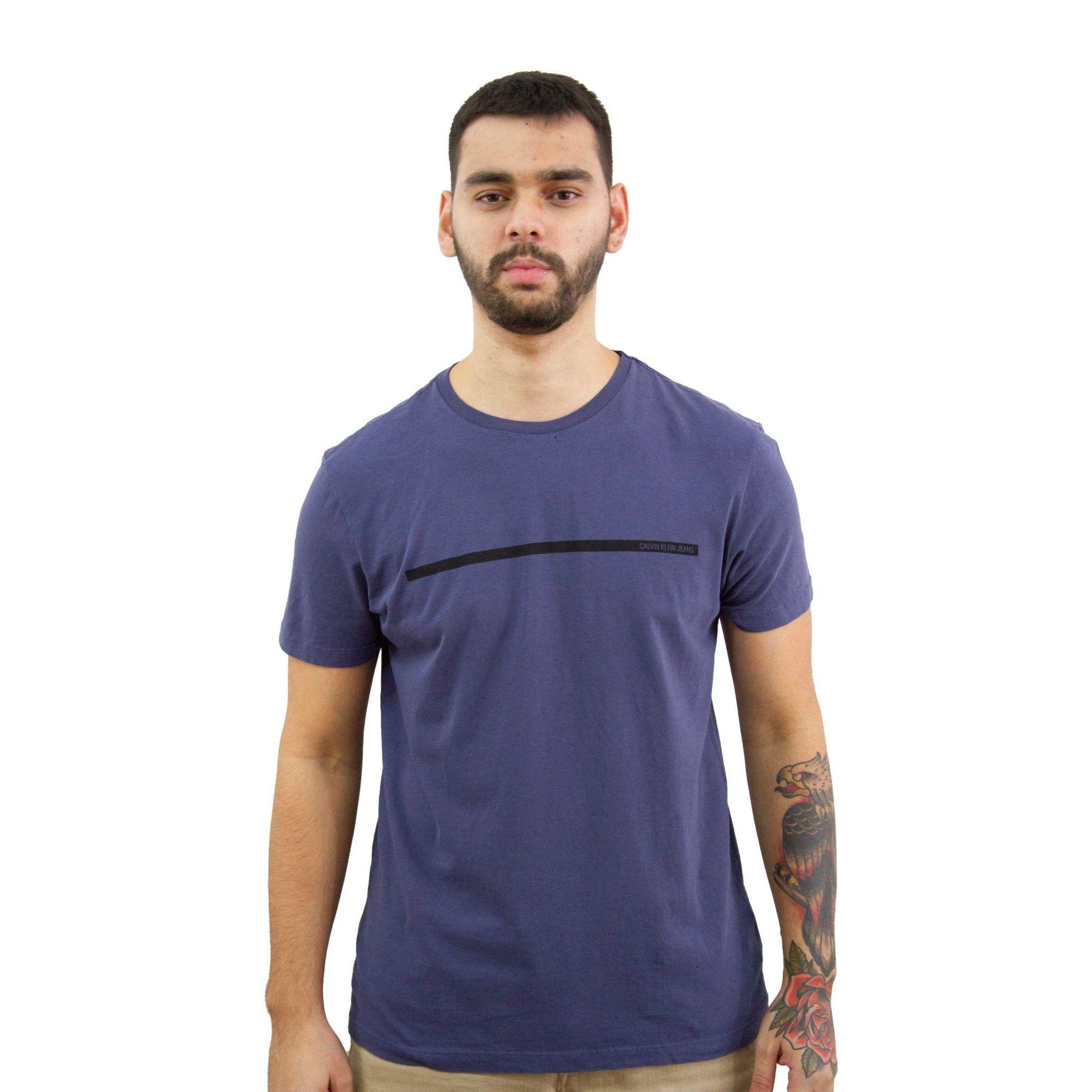 Camiseta Calvin Klein Jeans Azul Indigo