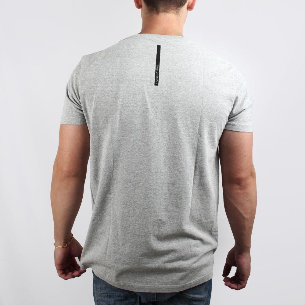 Camiseta Calvin Klein Jeans Basic Cinza Mescla