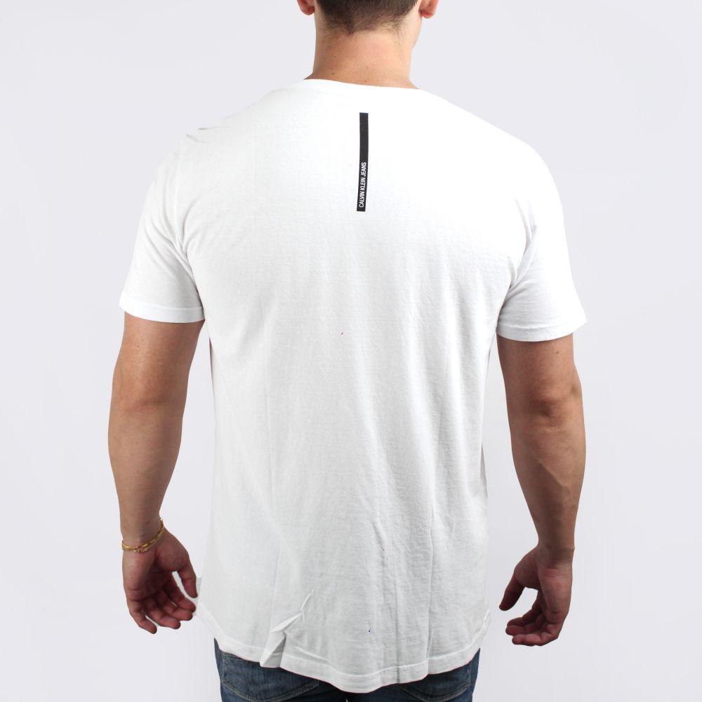 Camiseta Calvin Klein Jeans Basic Faixa Branca
