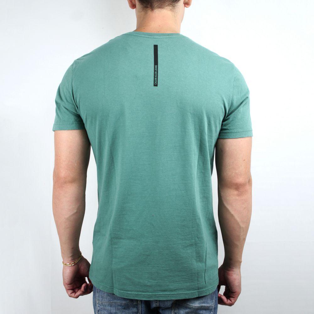 Camiseta Calvin Klein Jeans Basic Faixa Verde