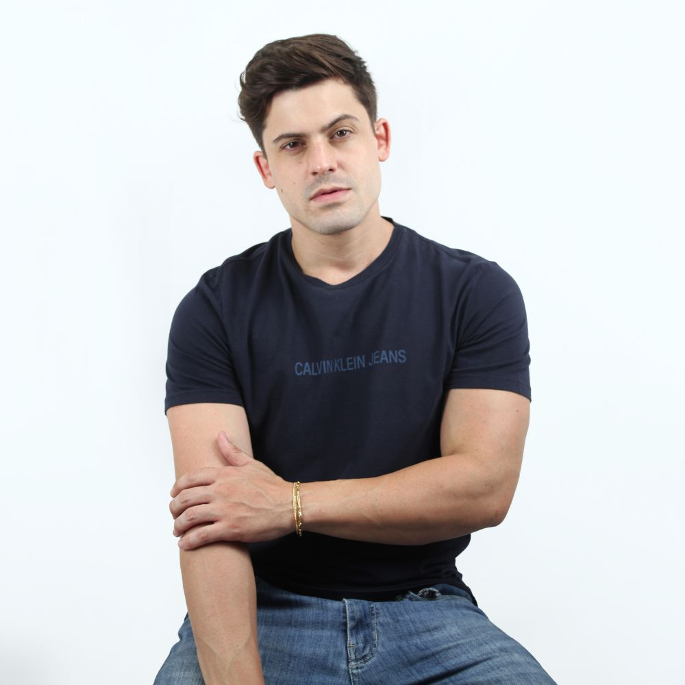 Camiseta Calvin Klein Jeans Classic Marinho