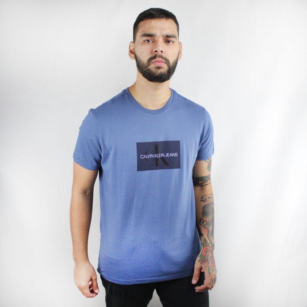 Camiseta Calvin Klein Jeans Geometric Azul