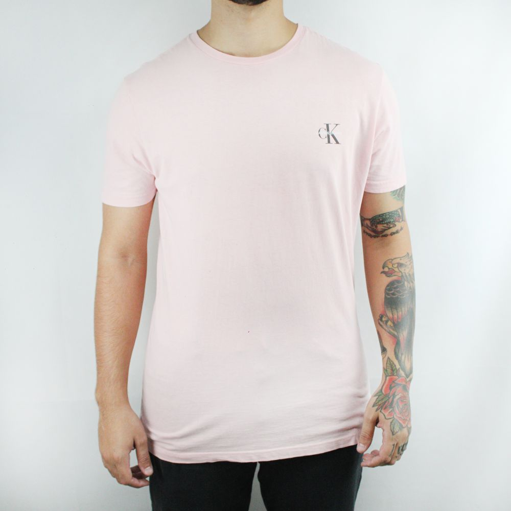 Camiseta Calvin klein Jeans Logo Classic Rosa
