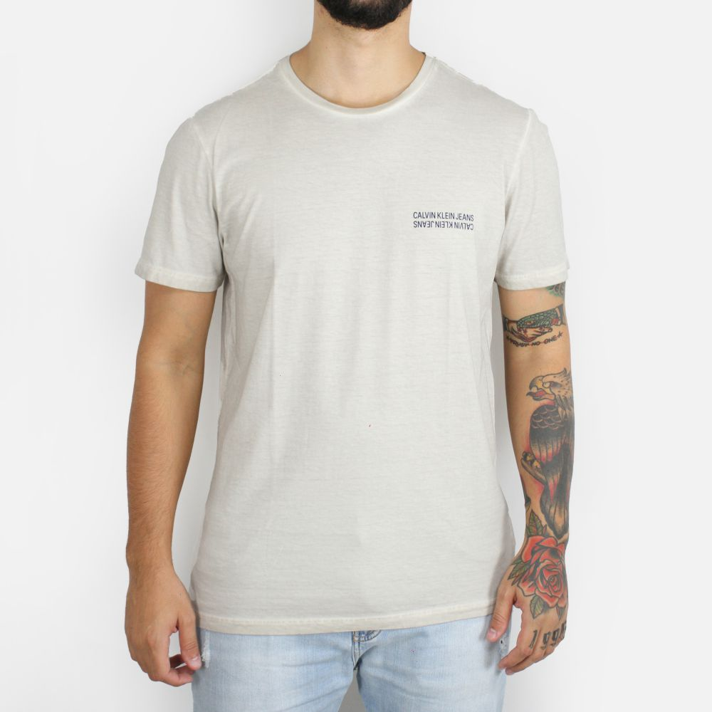 Camiseta Calvin Klein Jeans Mini Logo P x N Bege