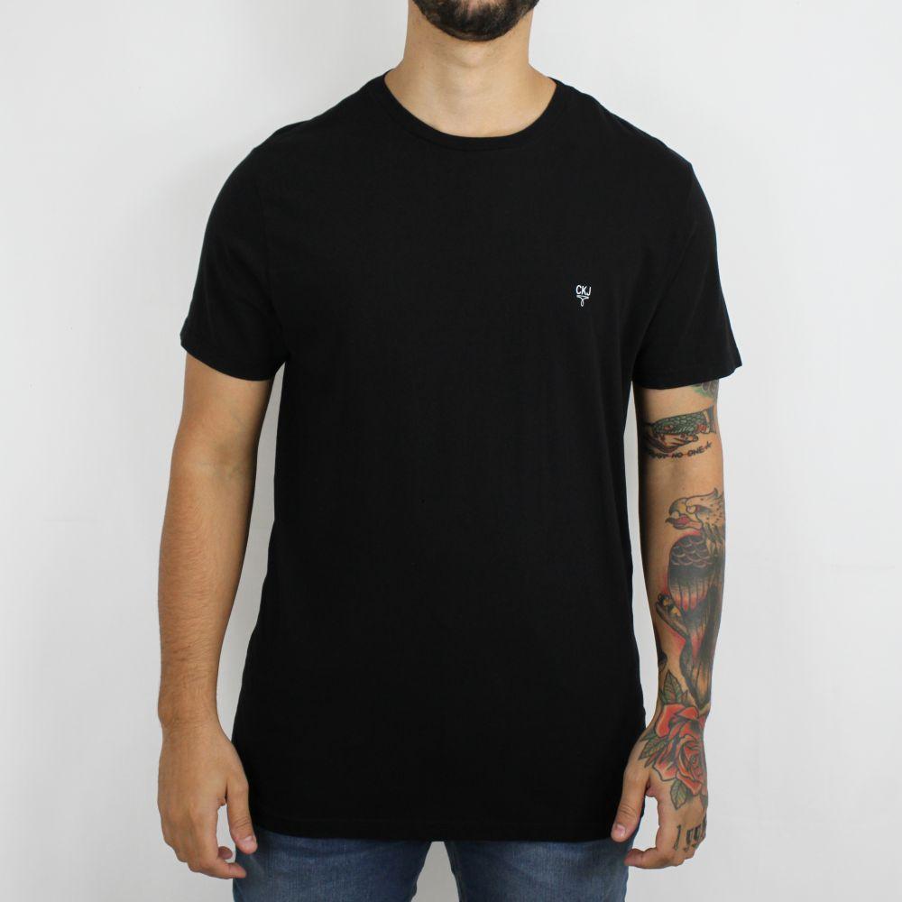 Camiseta Calvin Klein Jeans Mini Logo Preta