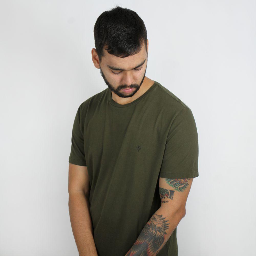 Camiseta Calvin Klein Jeans Mini Logo Verde