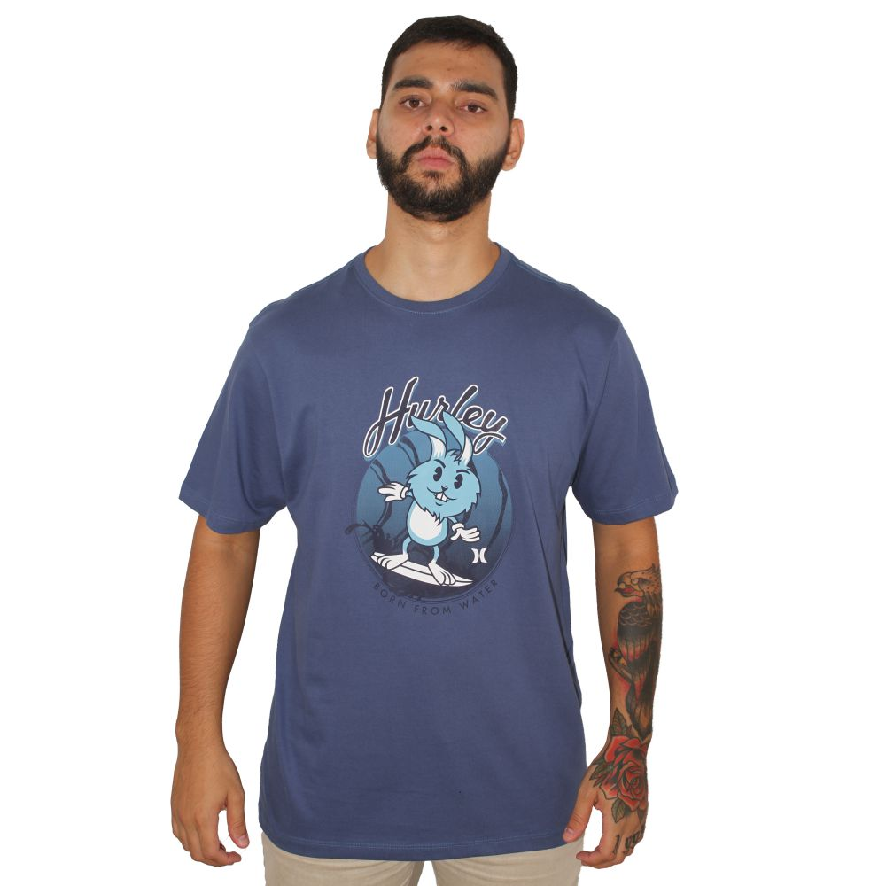 Camiseta Hurley Born From Water Azul