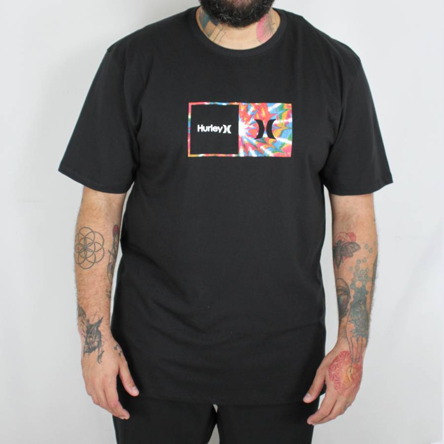 Camiseta Hurley Effect Over Plus Size Preta