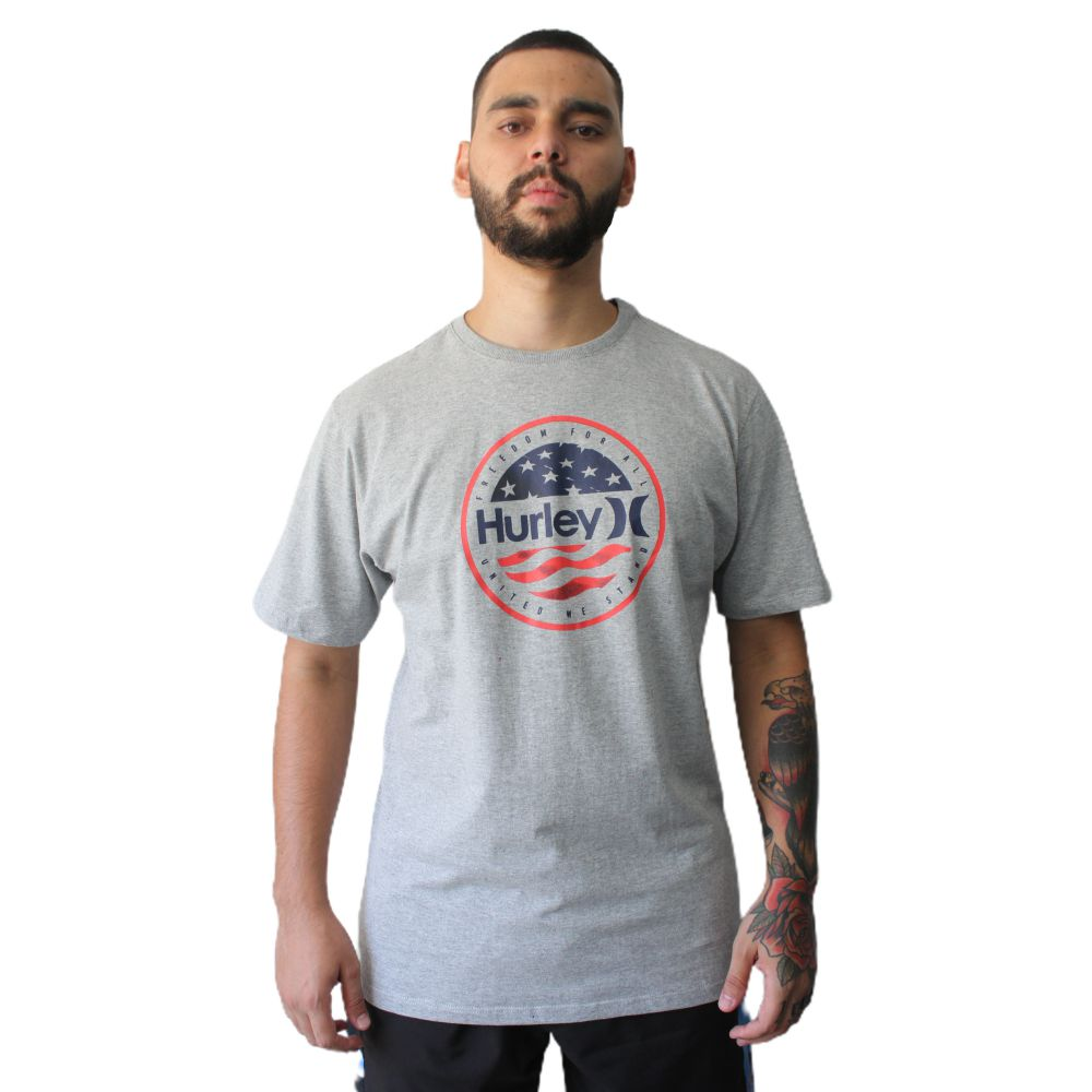 Camiseta Hurley Freedom For All Cinza