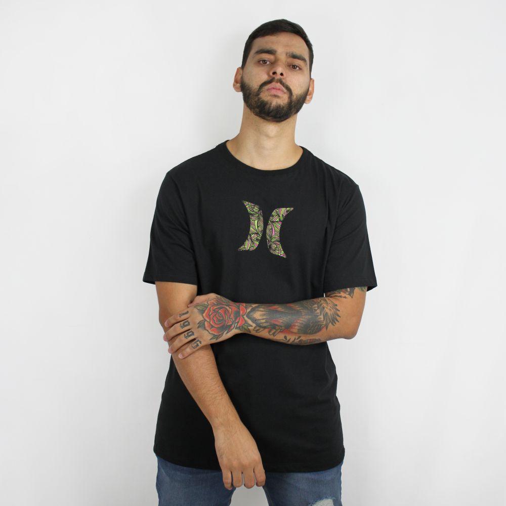 Camiseta Hurley Icon Geo Preta