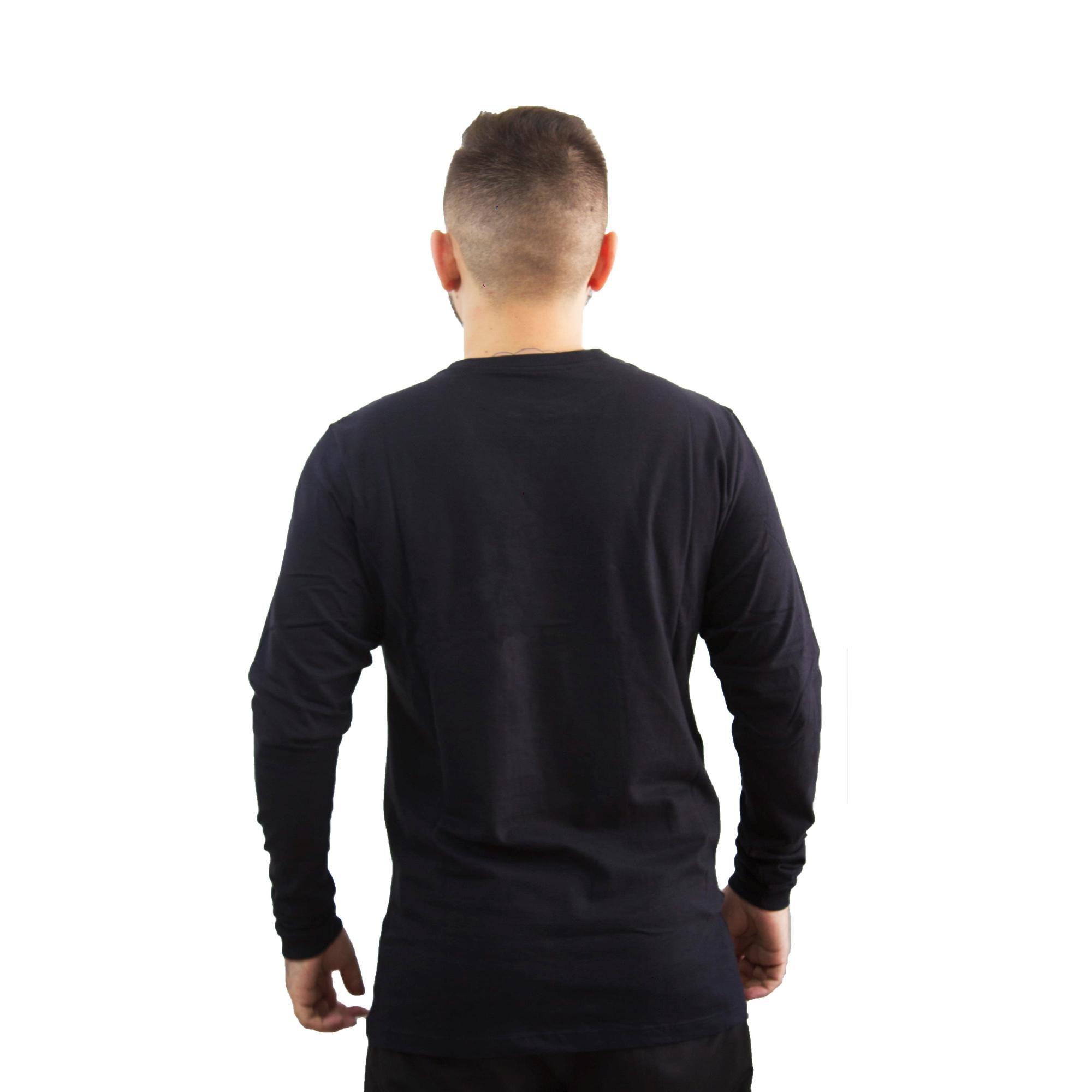 Camiseta Hurley Manga Longa Preta