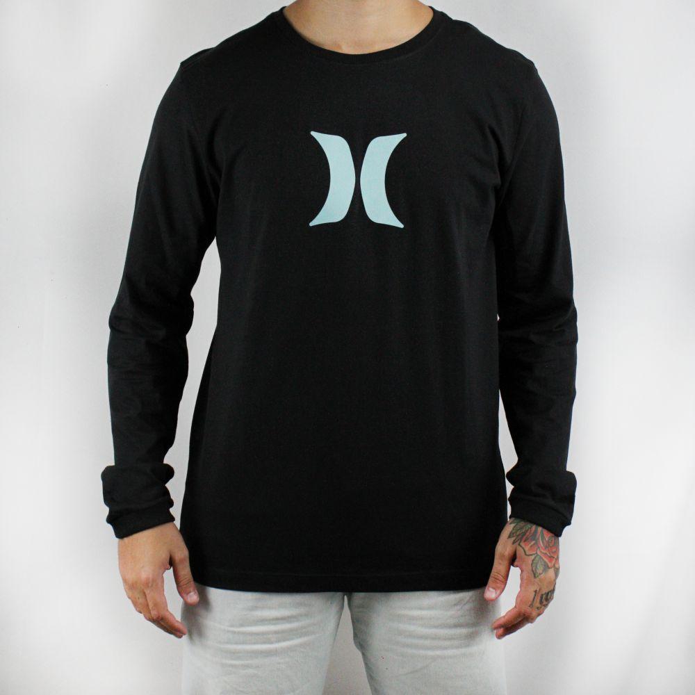 Camiseta Hurley Manga Longa Silk Icon Preta