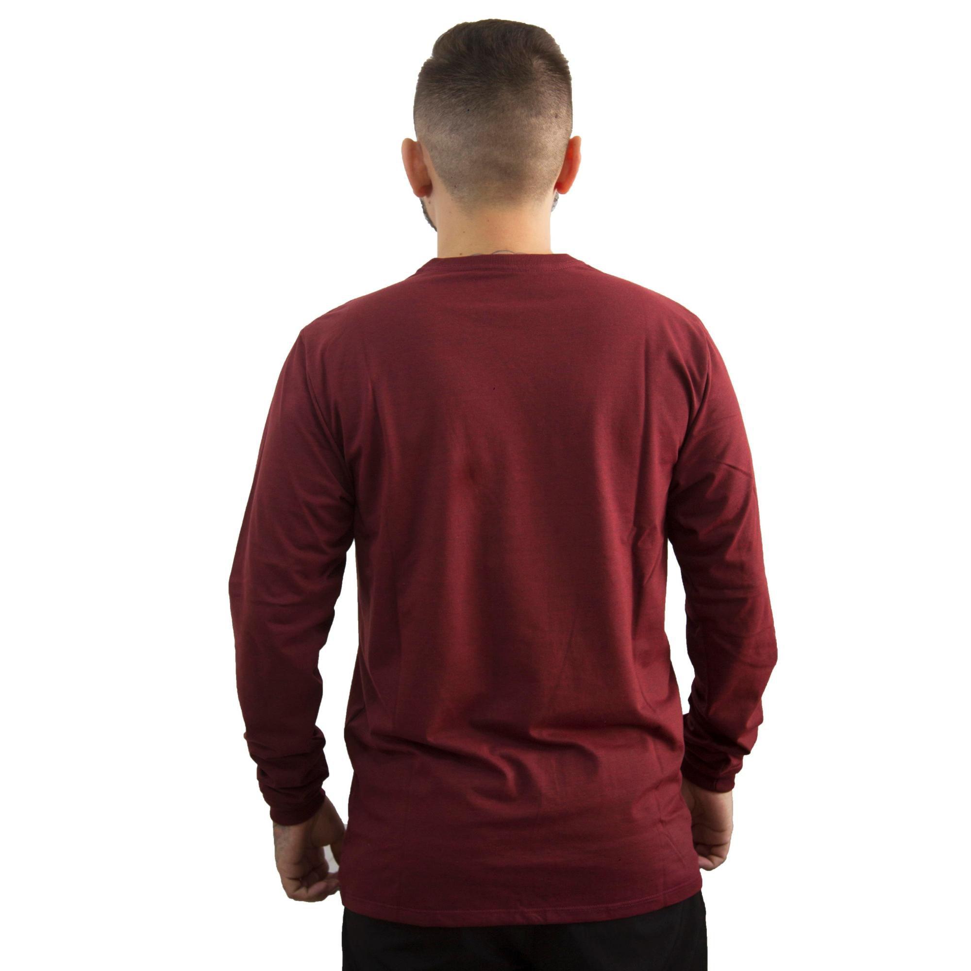 Camiseta Hurley Manga Longa Vermelho Mescla