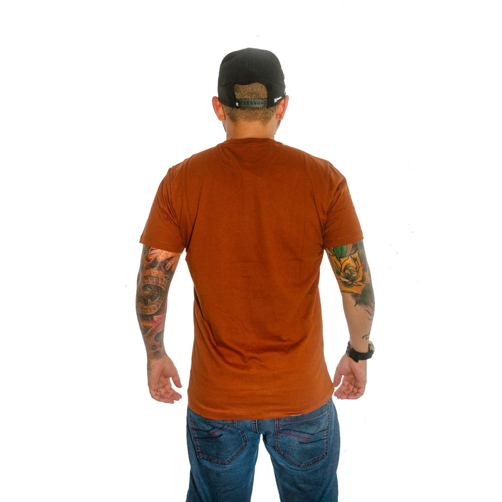 Camiseta Hurley Marrom Mescla