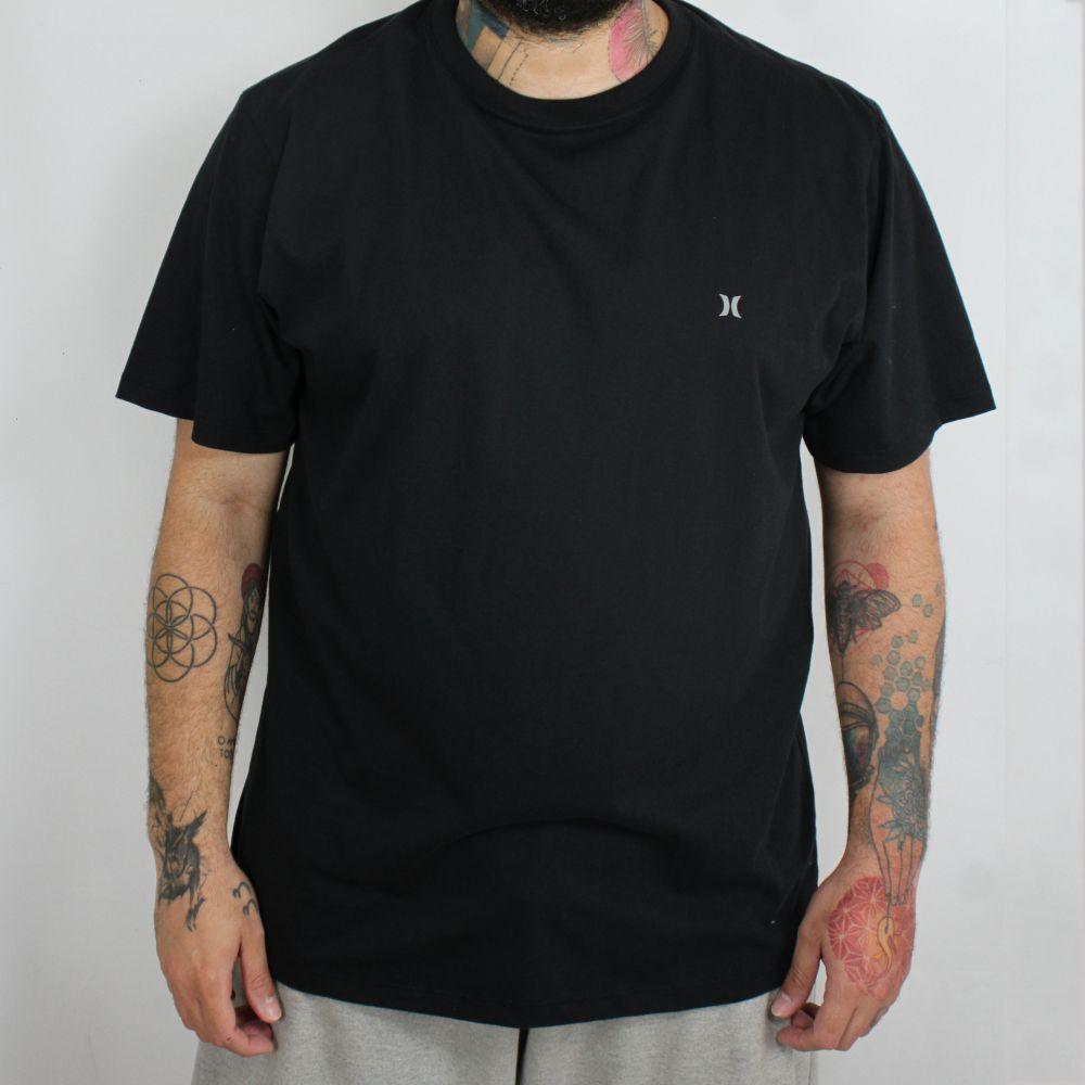 Camiseta Hurley Mini Icon Plus Size Preta