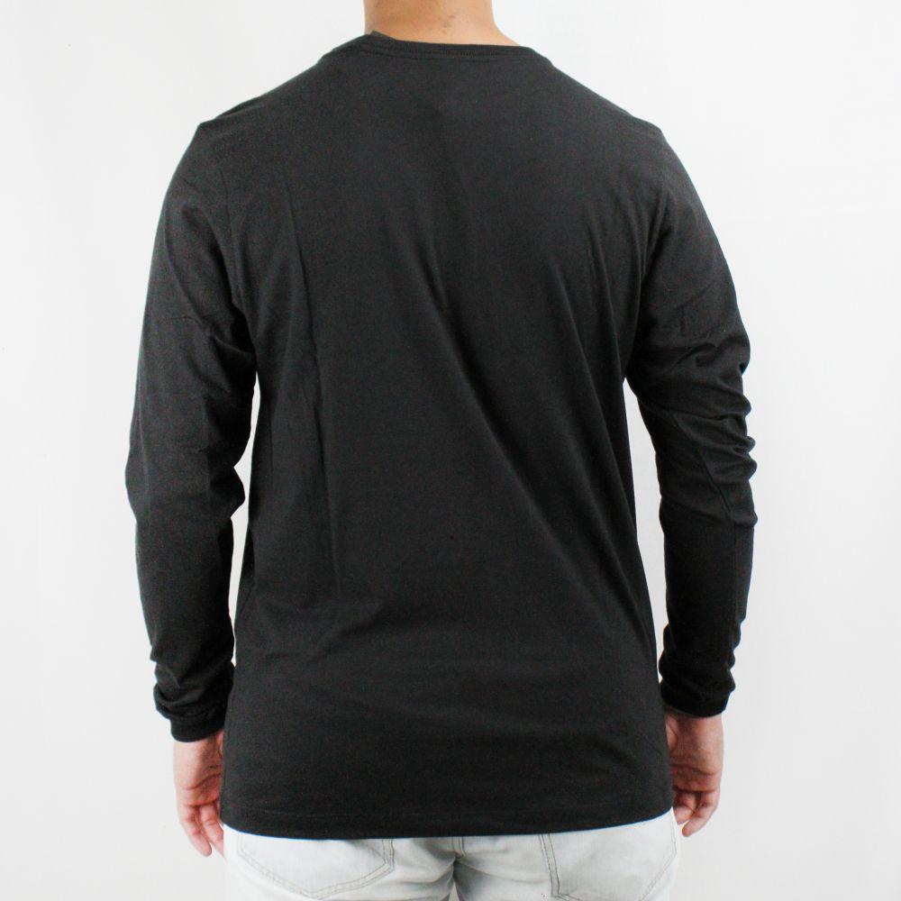 Camiseta Hurley O&O Solid Manga Longa Preta