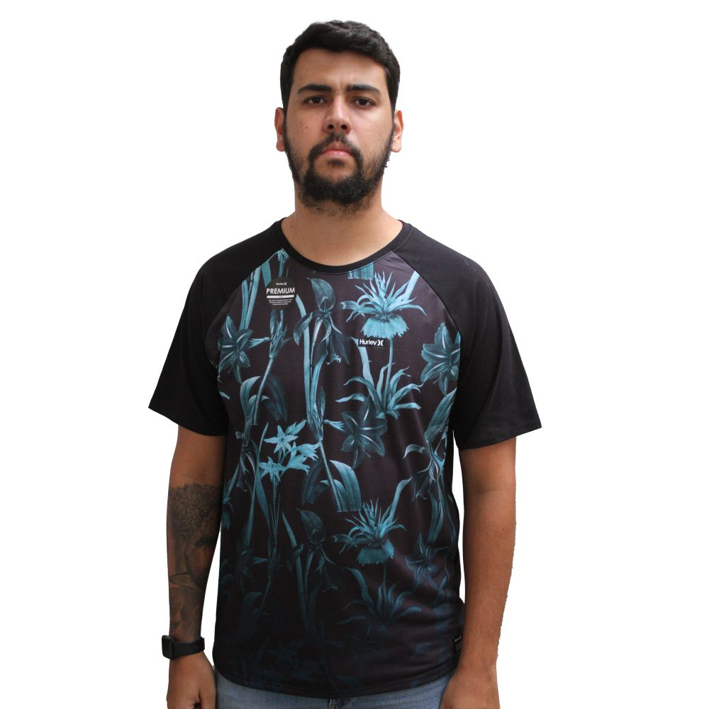 Camiseta Hurley Premium Floral Outside