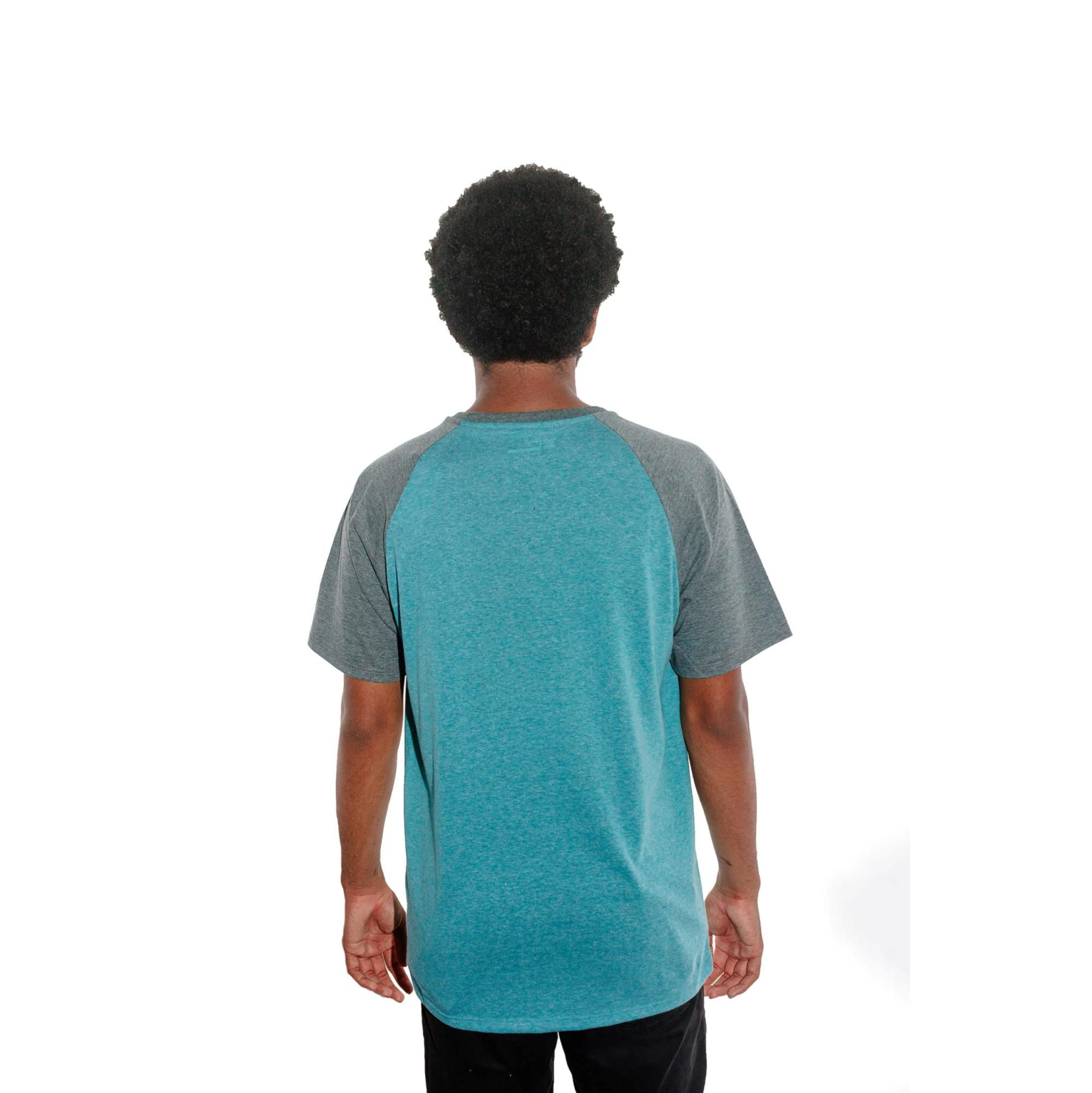 Camiseta Hurley Raglan Azul Mescla
