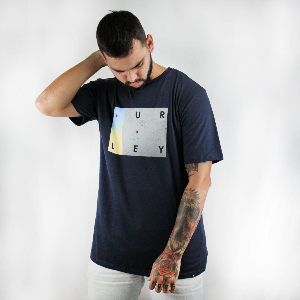 Camiseta Hurley Silk Concrect Marinho