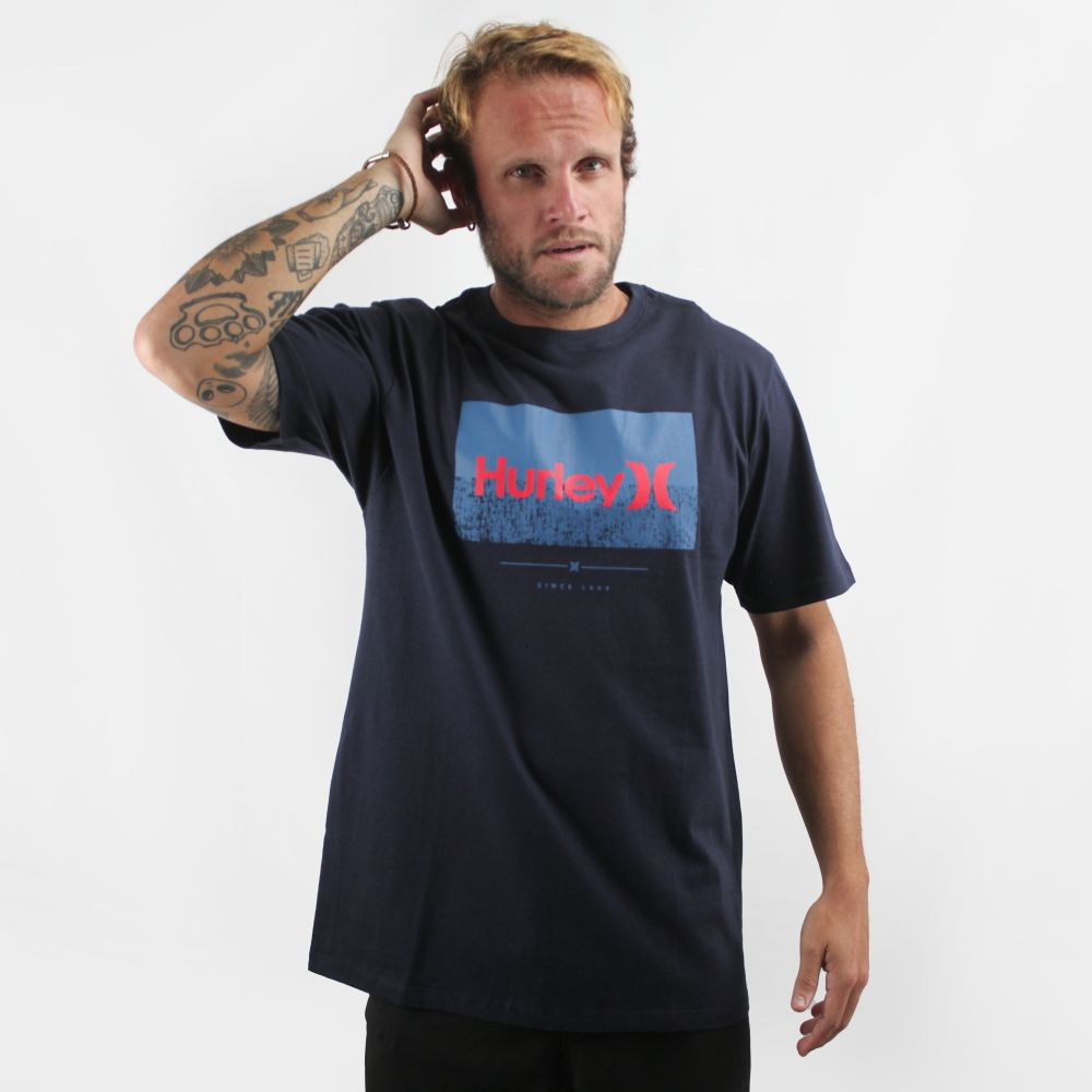 Camiseta Hurley Silk Desorder Marinho