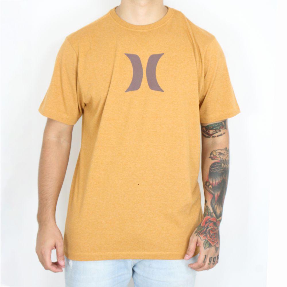 Camiseta Hurley Silk Icon Caramelo