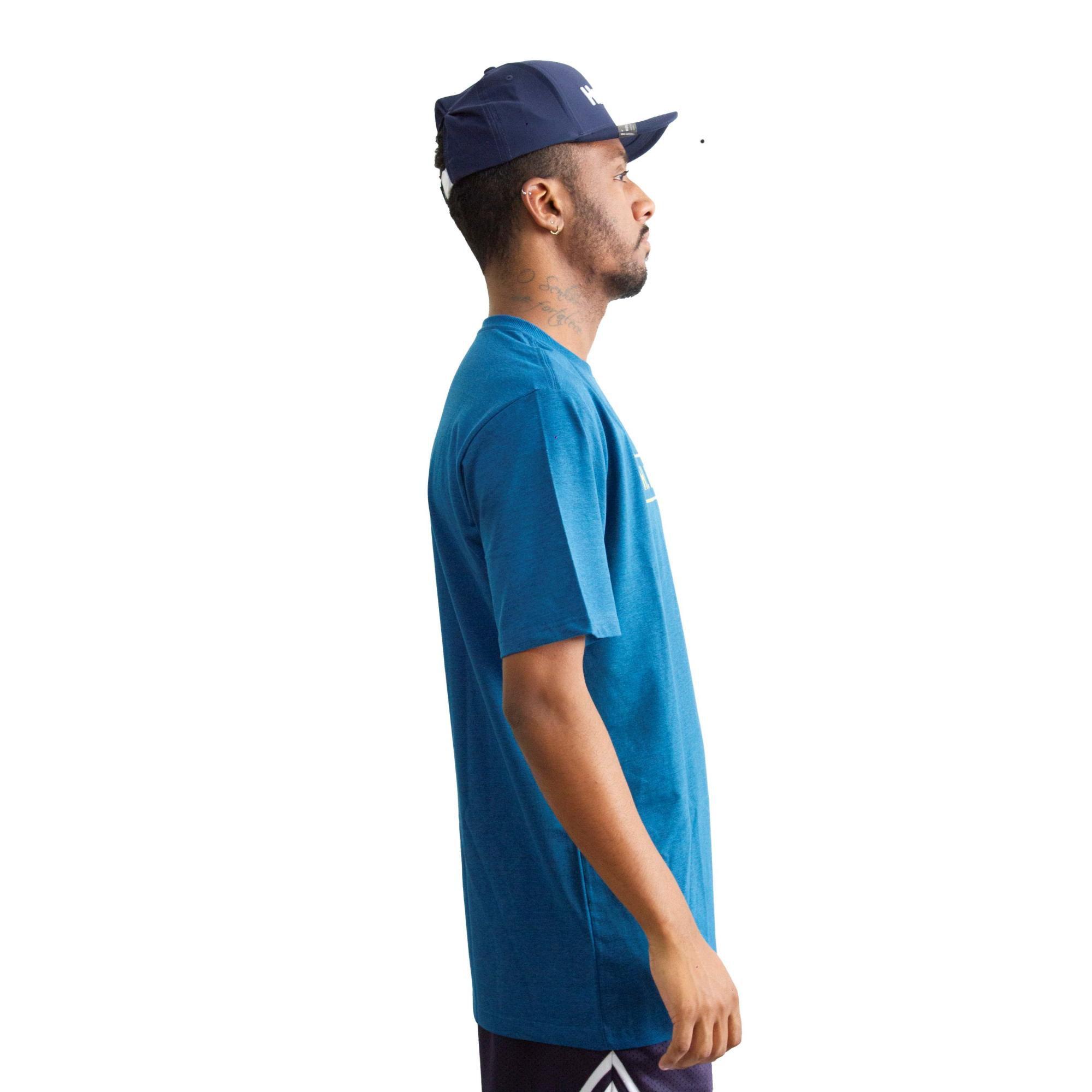 Camiseta Hurley Silk Marinho Mescla