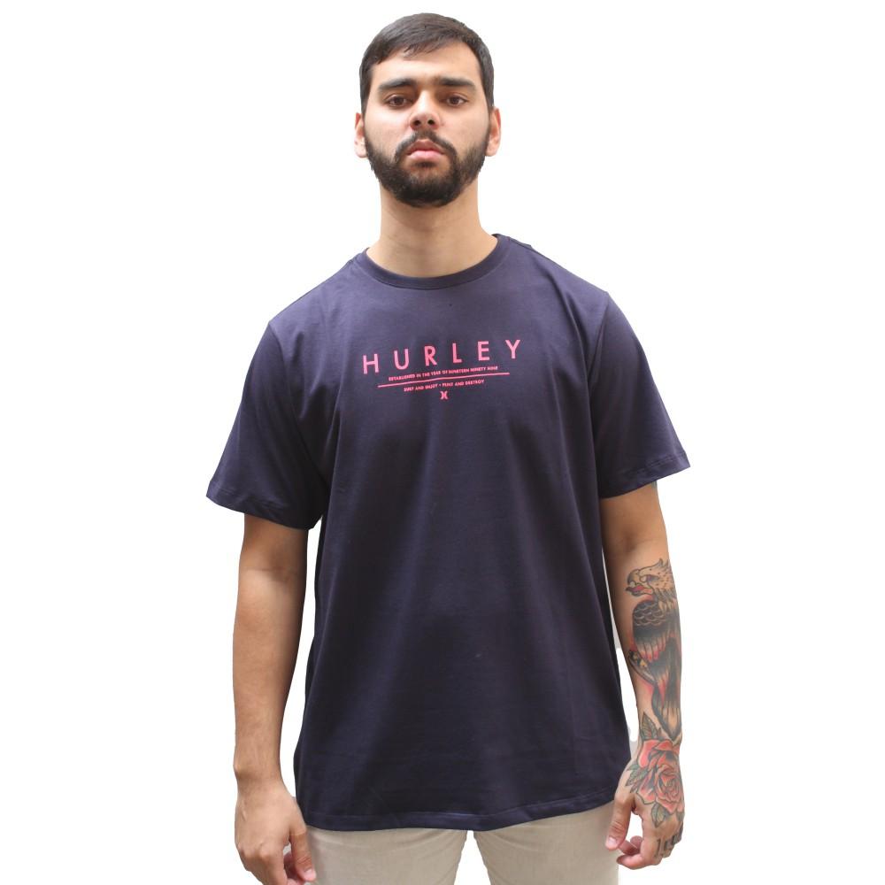 Camiseta Hurley Silk Neon Marinho