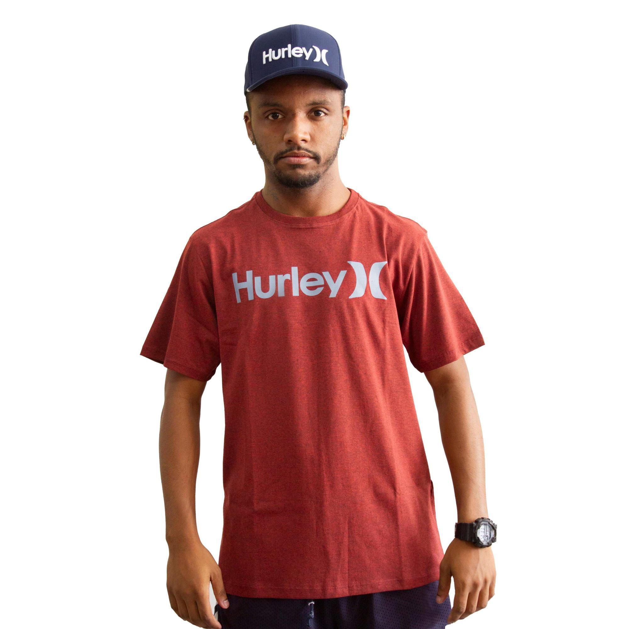 Camiseta Hurley Silk O&O Vermelho Mescla