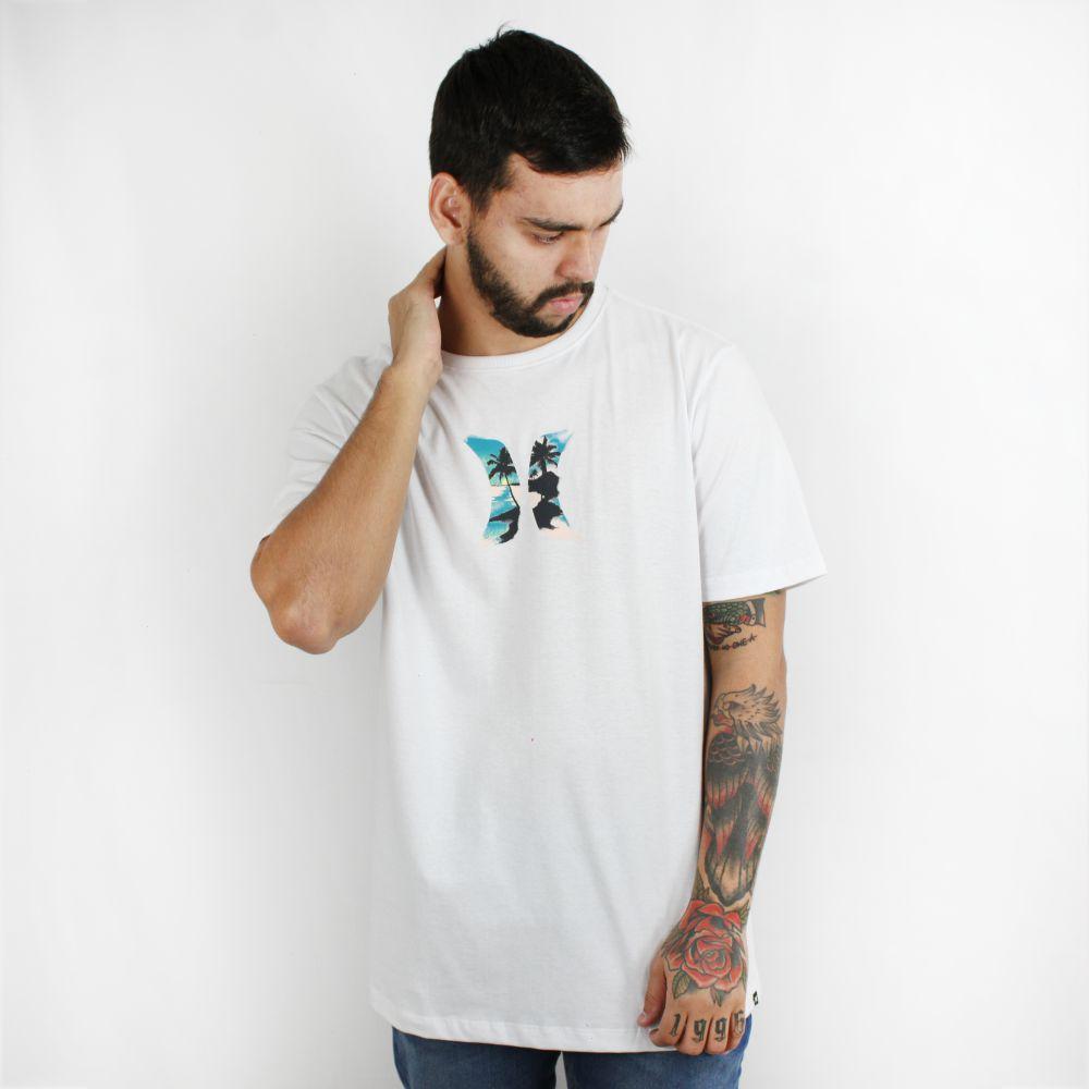 Camiseta Hurley Silk Palmeira Branca