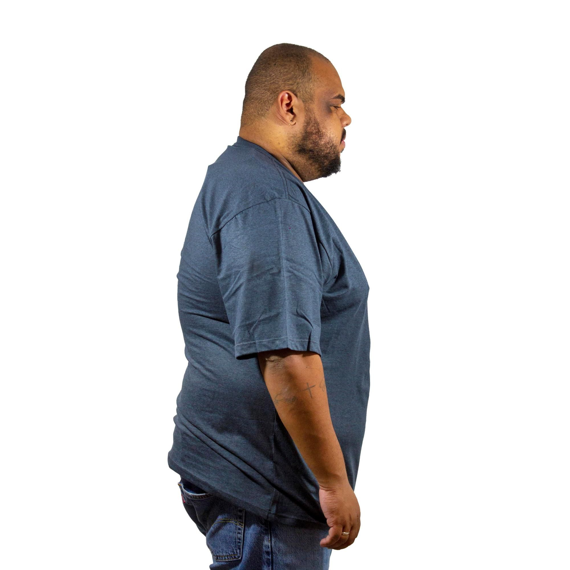 Camiseta Hurley Silk Plus Size Mescla Escuro