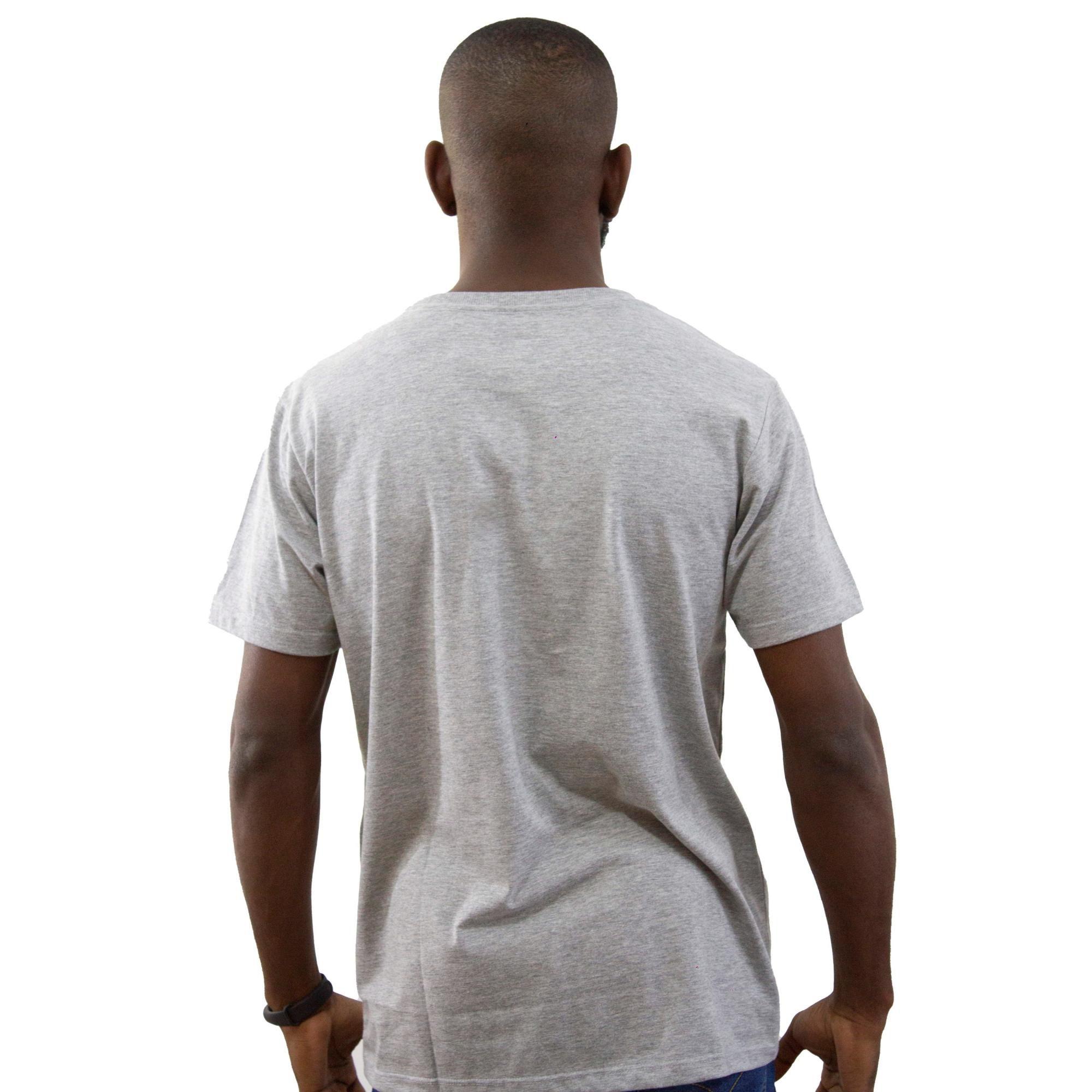 Camiseta New Era Basic Mescla Cinza